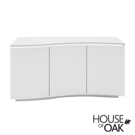 Lazzaro Sideboard in White Gloss with LED Lights