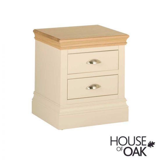 Ambleside 2 Drawer Bedside Cabinet in Ivory