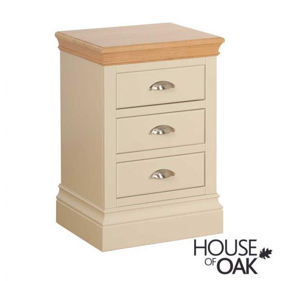 Ambleside 3 Drawer Bedside Cabinet in Ivory
