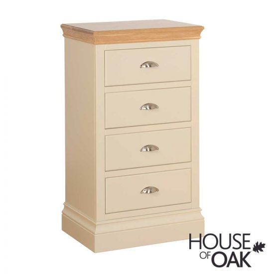 Ambleside 4 Drawer Narrow Chest in Ivory