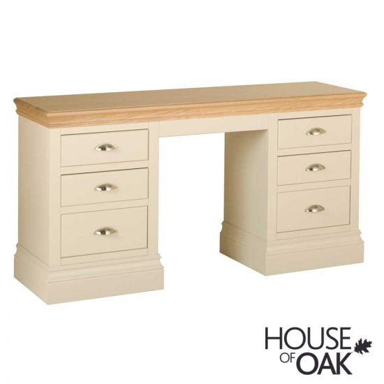 Ambleside Double Pedestal Dressing Table in Ivory