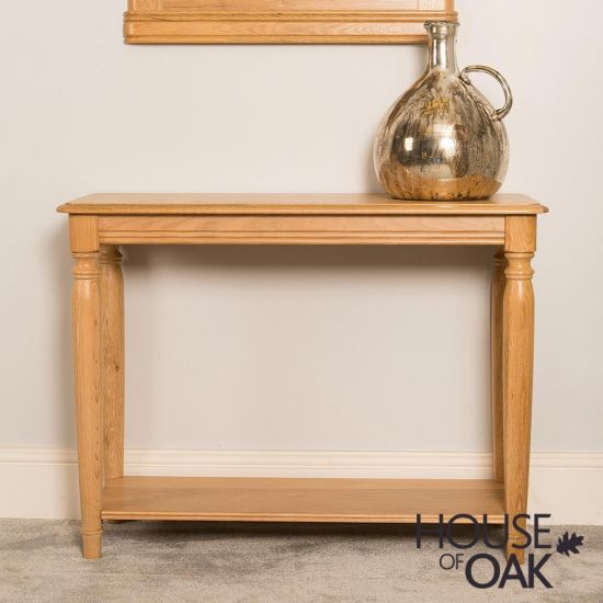 Lyon Oak Console Table