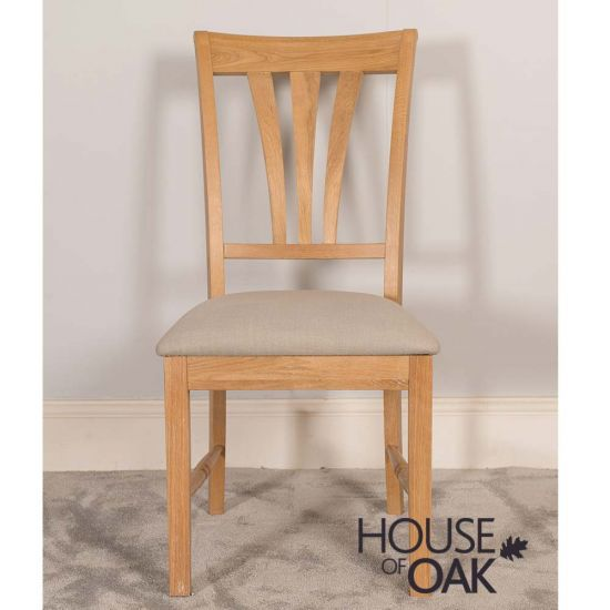 Lyon Oak Dining Chair With Almond Seat Pad