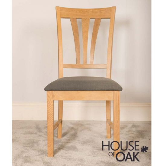 Lyon Oak Dining Chair With Slate Seat Pad