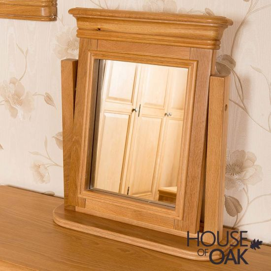 Lyon Oak Dressing Table Mirror