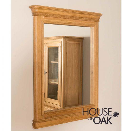 Lyon Oak Wall Mirror Vertical