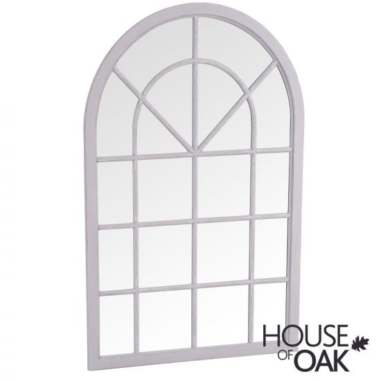 Neptune Small Arched Window Mirror Grey