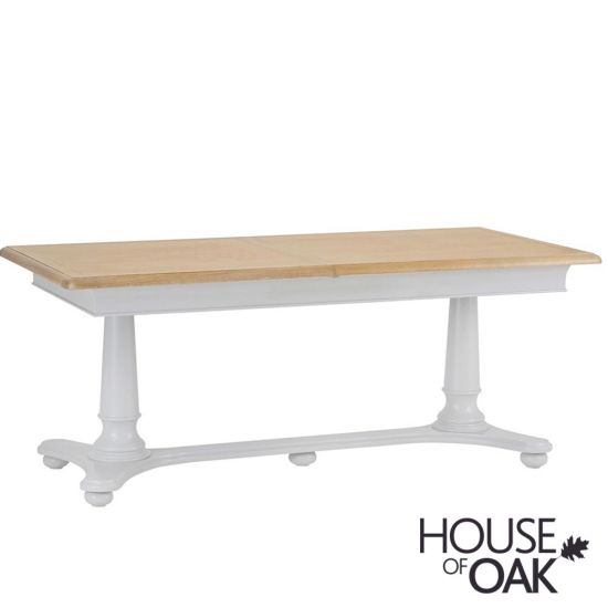 Chelsea Grey 160cm Twin Pedestal Extending Table