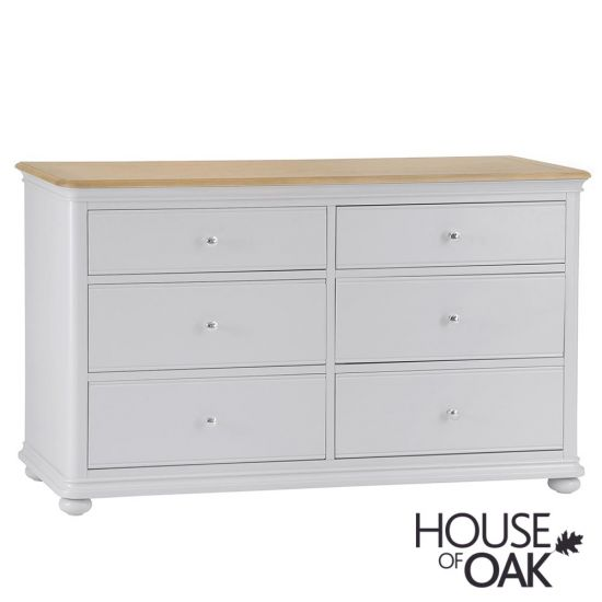 Chelsea Grey 6 Drawer Wide Chest