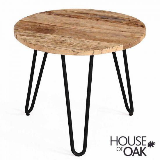Cosgrove Medium Reclaimed Wood & Metal Side Table