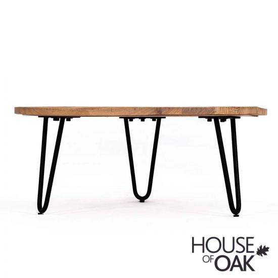 Cosgrove Low Reclaimed Wood & Metal Coffee table