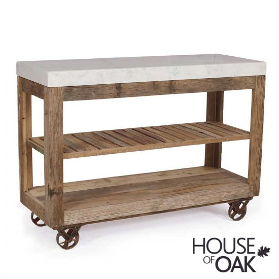Cosgrove Large Marble Top Open Kitchen Island