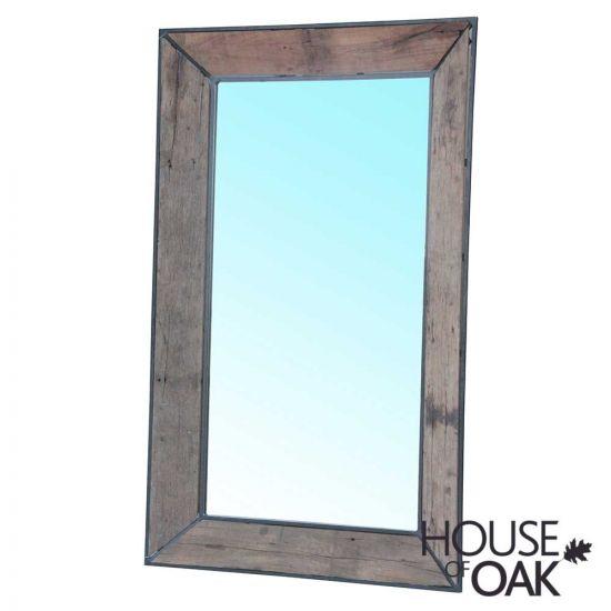 Cosgrove Large Reclaimed Wood & Metal Mirror 89 x 147cm