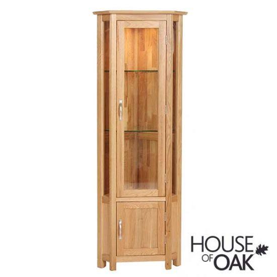 Coniston Oak Corner Display Cabinet