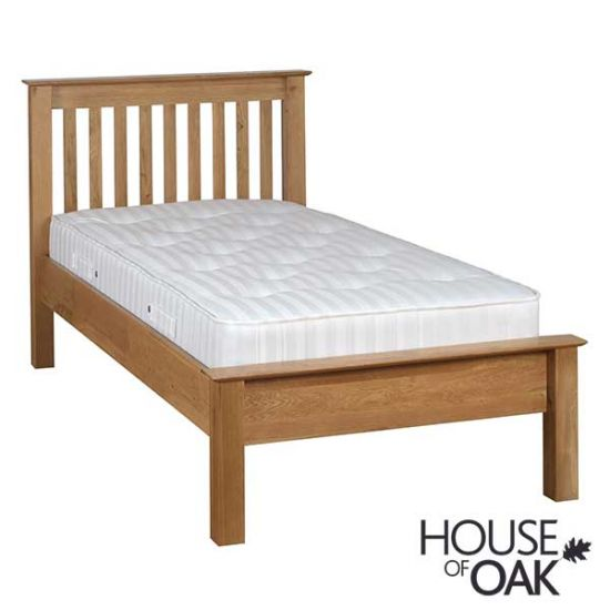 Coniston Oak 3FT Low Foot End Single Bed