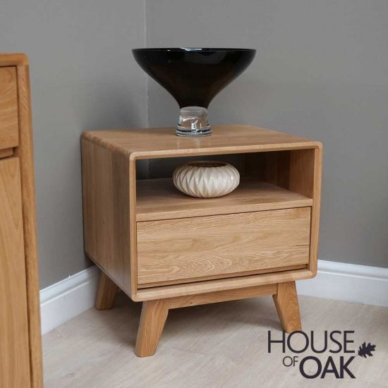 Eden Solid Oak Lamp Table