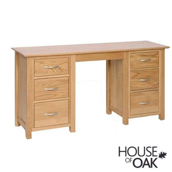 Coniston Oak Double Pedestal Dressing Table