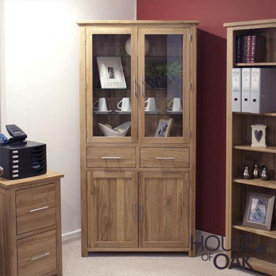 Opus Solid Oak 4 Door Library Unit