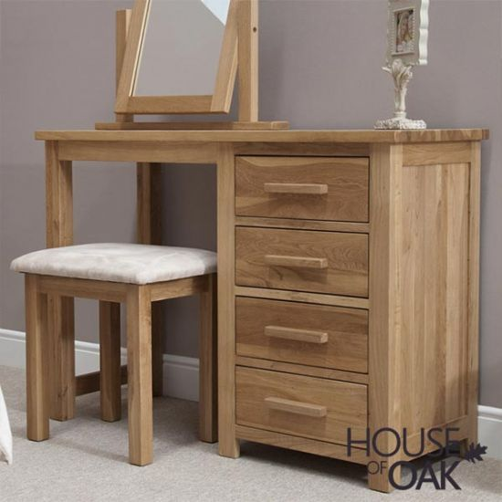 Opus Solid Oak Dressing Table and Stool