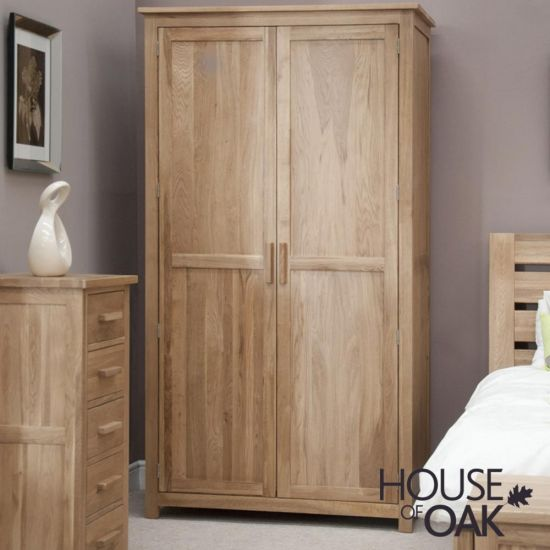 Opus Solid Oak Double Wardrobe