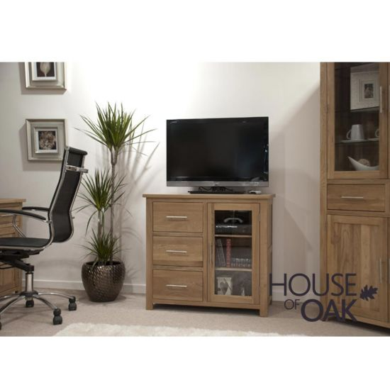 Opus Solid Oak Small Glazed Chest
