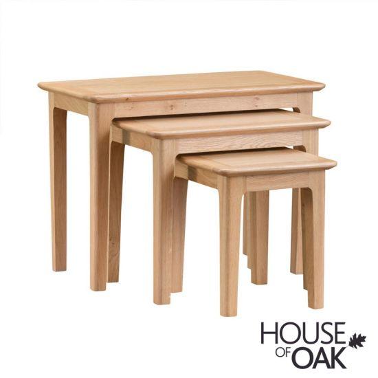 Oslo Oak Nest of 3 Tables