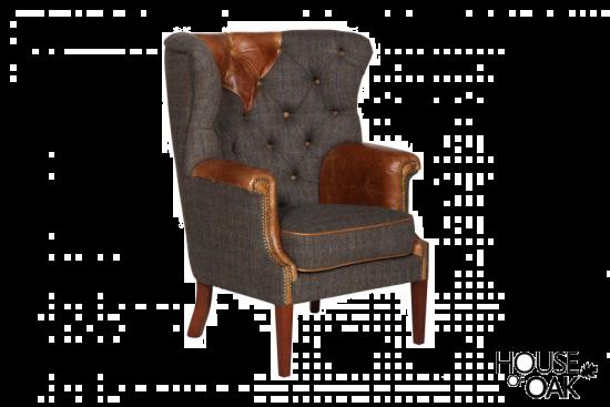 Kensington Chair in Moreland Harris Tweed