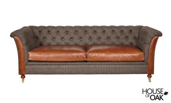 Granby 3 Seater Sofa in Moreland Harris Tweed