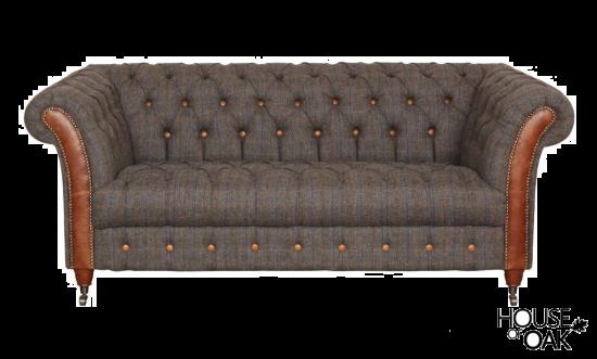 Chester Club 2 Seater Sofa in Moreland Harris Tweed