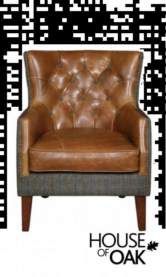 Stanford Chair in Moreland Harris Tweed