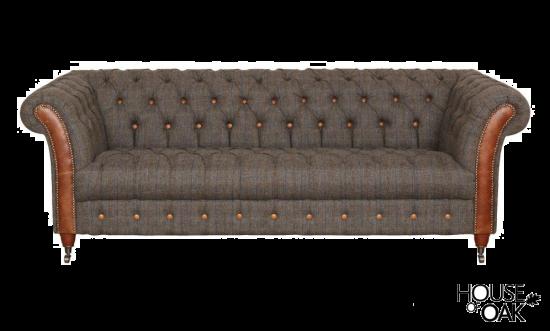 Chester Club 3 Seater Sofa in Moreland Harris Tweed