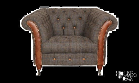 Chester Club Chair in Moreland Harris Tweed