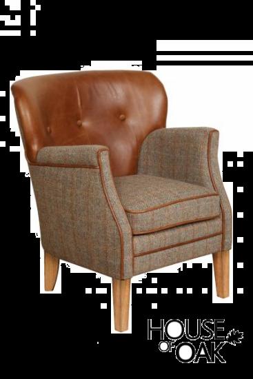 Elston Chair in Hunting Lodge Harris Tweed
