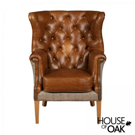 Winchester Chair in Hunting Lodge Harris Tweed