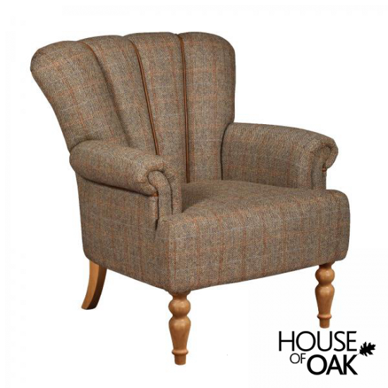 Lily Chair Petite Size in Hunting Lodge Harris Tweed