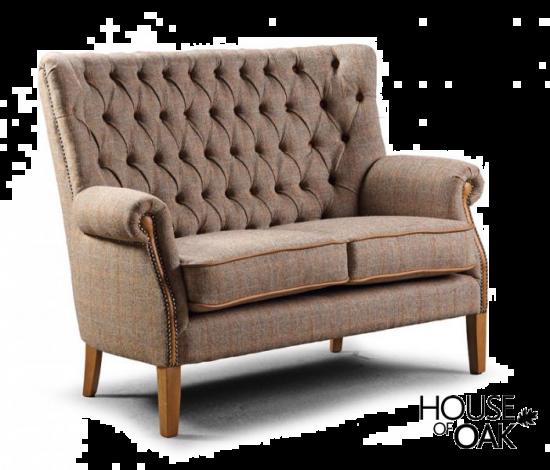 Hexham 2 Seater Sofa in Hunting Lodge Harris Tweed