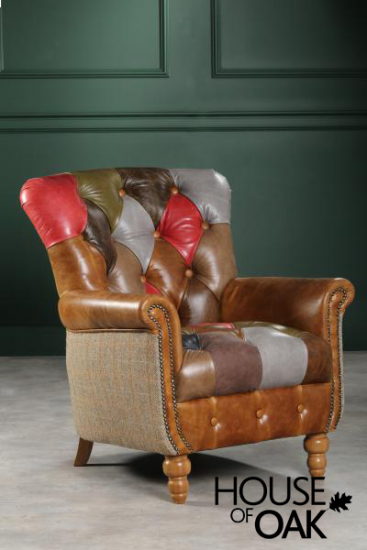 Alderley Leather Patchwork (Inner cover) Chair