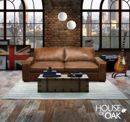 Maximus 3 Seater Leather Sofa