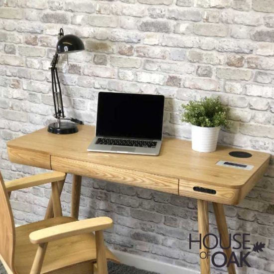 San Francisco Smart Speaker/Charging Computer Desk