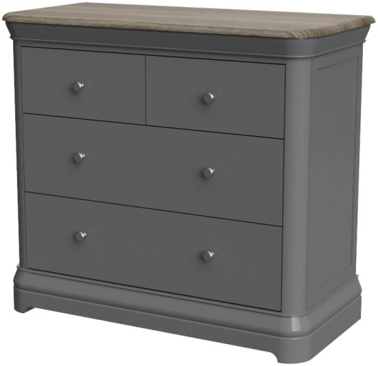Cumbria Slate 2 Over 2 Chest of Drawers