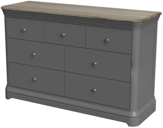 Cumbria Slate 3 Over 4 Drawer Chest of Drawers