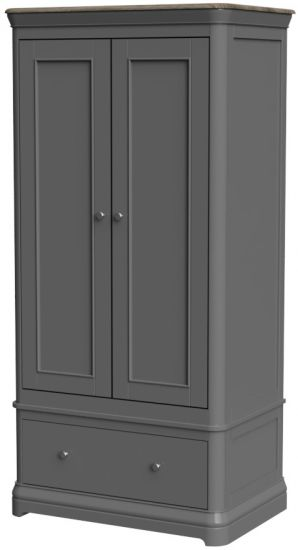 Cumbria Slate Double Wardrobe with Drawer