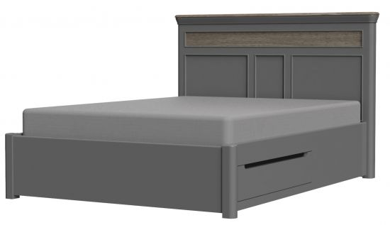 Cumbria Slate 4FT 6'' Double Bed with Drawers