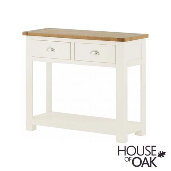 Portman Painted 2 Drawer Console in White