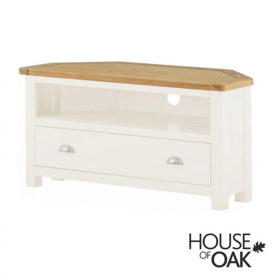 Portman Painted Corner TV Cabinet in White