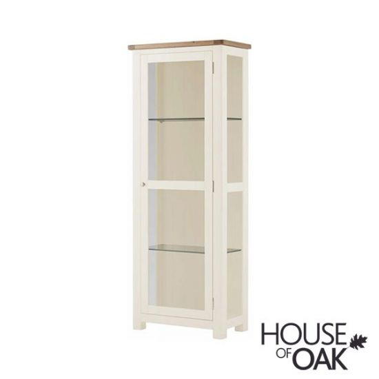 Portman Painted Glass Display Cabinet in White