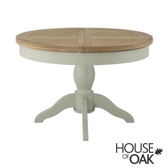 Portman Painted Round Extending Table in Stone Grey