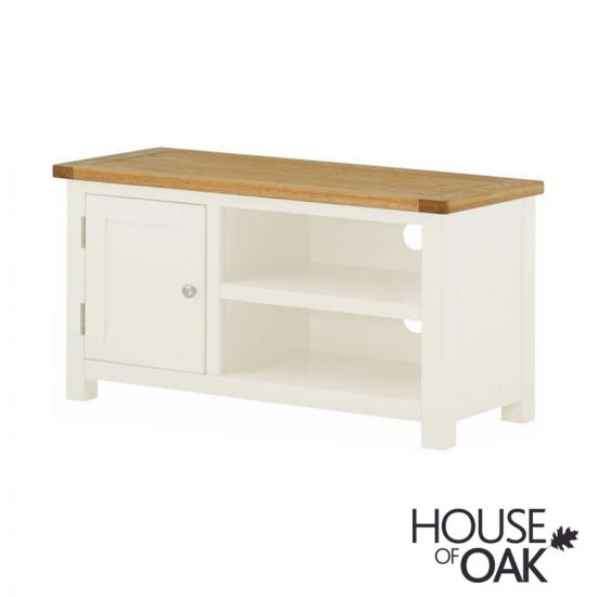 Portman Painted Small TV Cabinet in White