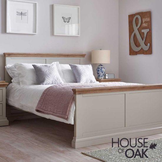 Porto Light Grey 4FT 6'' Double Bed