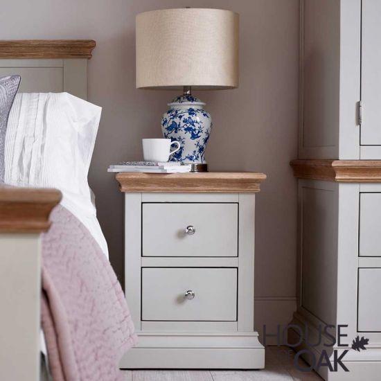 Porto Light Grey Bedside Cabinet